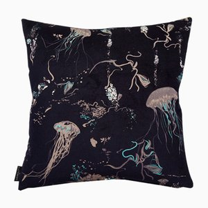Jellyfish Cushion in Navy by 17 Patterns