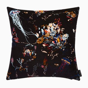 Jellyfish Black Cushion by 17 Patterns