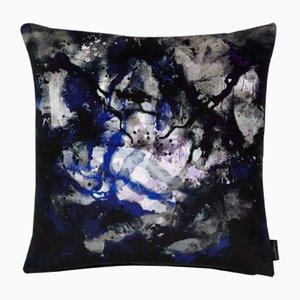 Coussin Nebulous Infinity Noir et Bleu par 17 Patterns