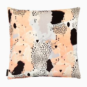 Love Leopard Peach Cushion by 17 Patterns