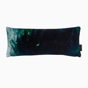 Beyond Nebulous Blue/Green Lumbar Cushion by 17 Patterns