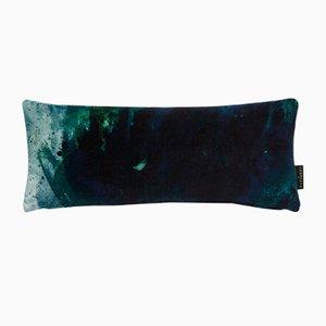 Beyond Nebulous Blue/Green Lumbar Cushion by 17 Patterns
