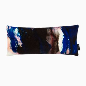 Beyond Nebulous Pink & Blue Lumbar Cushion by 17 Patterns