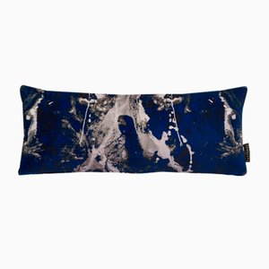 Blotto Navy Lumbar Cushion by 17 Patterns