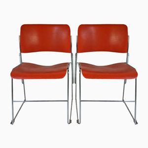 Chaises 40/4 Orange par David Rowland pour General Fireproofing, 1960s, Set de 2