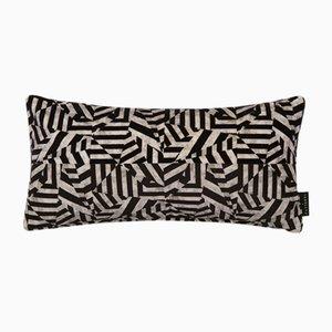 Coussin Lombaire Dazzle Noir par 17 Patterns