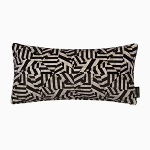 Dazzle Black Lumbar Cushion by 17 Patterns