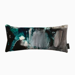 Nebulous Jade Lumbar Cushion by 17 Patterns