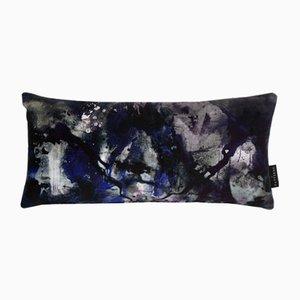 Cuscino lombare Nebulous Infinity in nero e blu di 17 Patterns