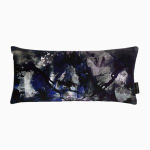 Nebulous Infinity Lumbar Cushion in Black & Blue by 17 Patterns