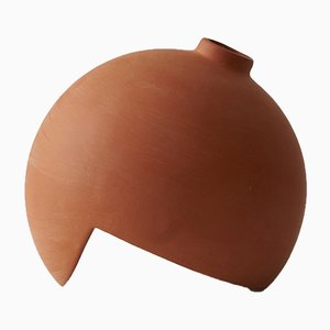 Tumble Terracotta Vase by Falke Svatun for A part