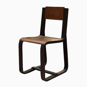 Vintage Wooden Chair by Giuseppe Pagano