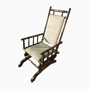 Rocking Chair in Beech, 1940s