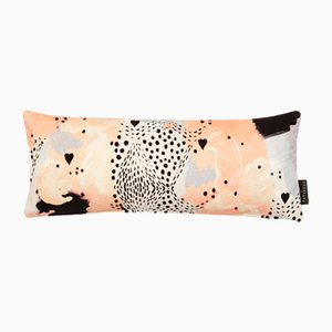 Love Leopard Lumbar Cushion in Peach by 17 Patterns
