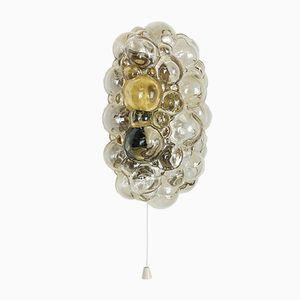Applique in vetro ambrato di Helena Tynell per Glashütte Limburg, anni '60