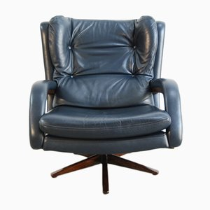 Leather Swivel Chair, 1970s