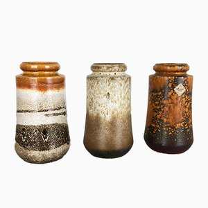 Fat Lava Vases from Scheurich, 1970s, Set of 3