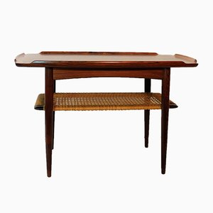 Scandinavian Rosewood Side Table by Poul Jensen for Selig, 1960s