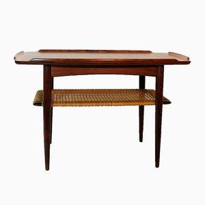 Scandinavian Rosewood Side Table by Poul Jensen for Selig, 1960s