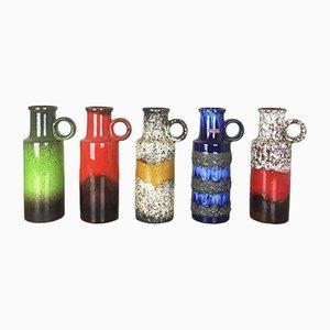Fat Lava Vasen von Scheurich, 1970er, 5er Set