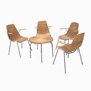 Vintage Garnitur aus Rattan & Metall für Außenbereich