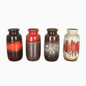 Fat Lava Vasen von Scheurich, 1970er, 4er Set