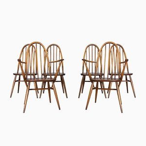365 High Back Windsor Dining Chairs by Lucian Ercolani for Ercol, 1960s, Set of 6