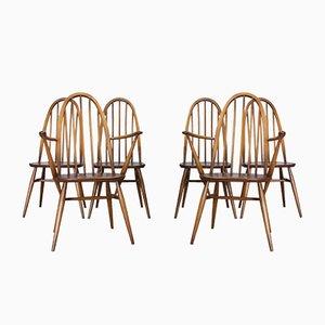 365 Windsor Esszimmerstühle mit hohen Rückenlehnen von Lucian Ercolani für Ercol, 1960er, 6er Set