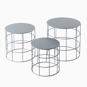 Reton Cylindrical Coffee Tables by Antonino Sciortino for Atipico, Set of 3