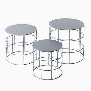 Zylinderförmige Reton Couchtische von Antonino Sciortino für Atipico, 3er Set