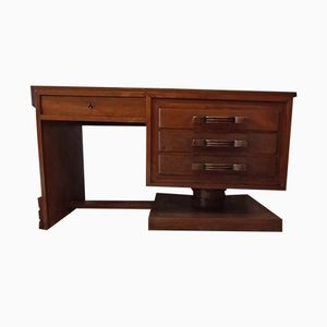 Art Deco Desk in Oak, 1940s