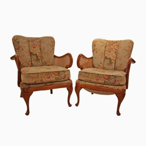 Upholstered Armchairs, 1950s, Set of 2