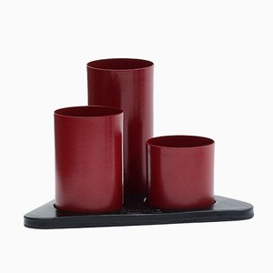 Crimson Red Manhattan Desktop Organizer by Kerem Aris for Uniqka, 2018