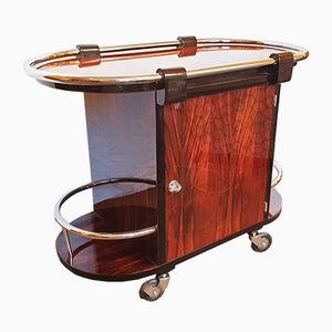 Art Deco Rio Rosewood Bar Cart