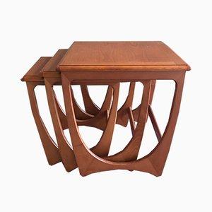 Tavolini ad incastro Mid-Century da G-Plan