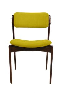 Customizable Vintage Models OD49 & OD50 Chairs by Erik Buch for O. D Møbler A.S, Set of 4 in Mustard