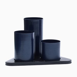 Navy Blue Manhattan Desktop Organizer by Kerem Aris for Uniqka, 2018