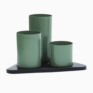 Olive Green Manhattan Desktop Organizer by Kerem Aris for Uniqka, 2018
