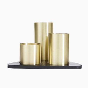 Gold Manhattan Desktop Organizer by Kerem Aris for Uniqka, 2018