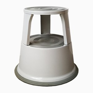 Stool with Wheels in Light Gray by WEDO