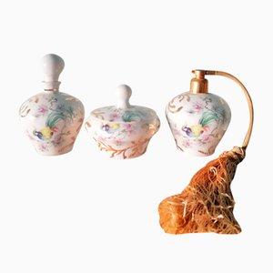 Bottigliette per profumo in ceramica di Porcelaines de Limoges, anni '60, set di 3