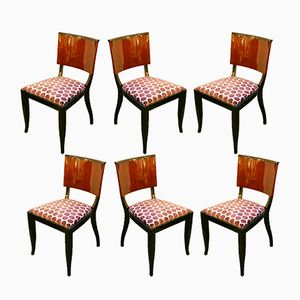 Indian Rosewood Dining Chairs, 1930s, Set of 6
