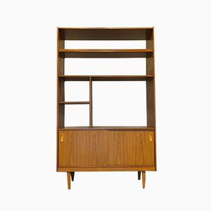 Vintage Teak Shelving Unit with Cabinets