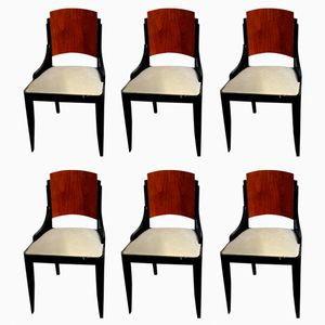 Art Deco Rio Rosewood Dining Chairs, Set of 6