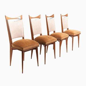 Italienische Stühle, 1950er, 4er Set