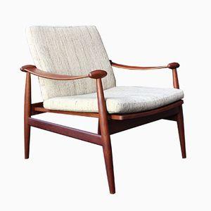 Model 133 Spadestolen Chair by Finn Juhl for France & Søn