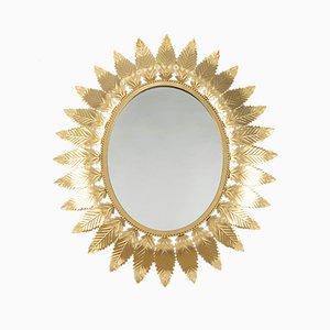 Spanischer Spiegel mit Rahmen in Sonnen-Optik, 1970er