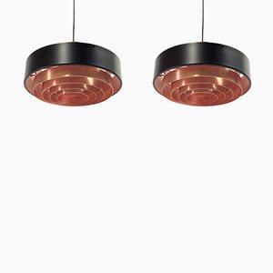 Lámparas de techo Mid-Century de T. Røste & Co., años 60. Juego de 2