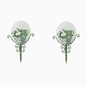 Swedish Grace Wall Lights, 1920s, Set of 2