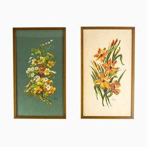 Spanische Drucke mit Blumen-Motiv von Ediciones Barsal, 1960er, 2er Set